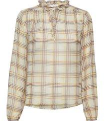 leva blouse blouse lange mouwen beige minus