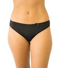 calcinha fio duplo mulher elegante qtal lingerie básico preto