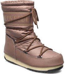 mb mid nylon wp shoes boots ankle boots ankle boot - flat brun moon boot