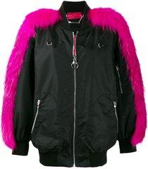 philipp plein bomber luxury jacket - black
