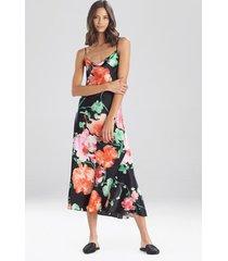 natori peony blossoms silk nightgown sleep pajamas & loungewear, women's, 100% silk, size l natori
