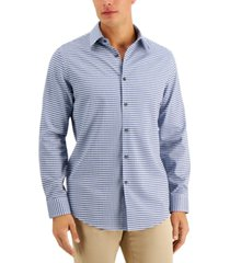 tasso elba men's comolo houndstooth dobby shirt, created for macy's
