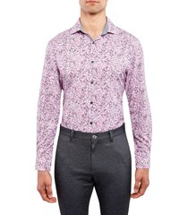 w.r.k trim floral stretch performance dress shirt, size 15.5 in pink at nordstrom