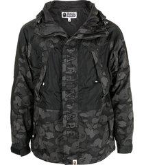 a bathing ape® abc dot reflective snowboard jacket - black