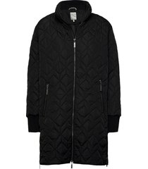frlaenglish 2 outerwear gevoerde lange jas zwart fransa