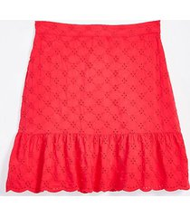 loft eyelet flounce skirt