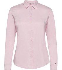 amy str shirt ls w1 overhemd met lange mouwen roze tommy hilfiger