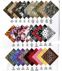 "lot 12 22"" bandanas bandana scarf doo rag us military army digital woodland camo"
