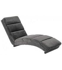 szezlong sofa welwetowa alaba szara