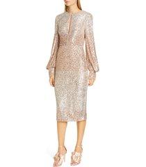 women's badgley mischka ombre sequin cocktail dress