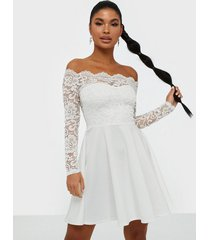 nly one lace off shoulder skater skater dresses