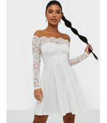 nly one lace off shoulder skater skater dresses