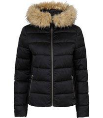 giacca trapuntata leggera con cappuccio (nero) - bodyflirt