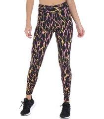 calça legging oxer tokio - feminina - cinza esc/rosa