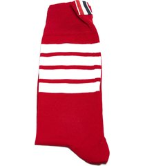 thom browne striped logo socks