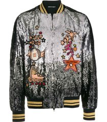 sequined bomber jacket