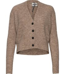 rebelo knit cardigan gebreide trui cardigan beige just female