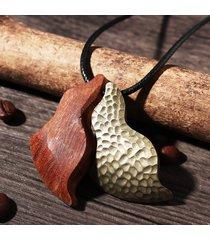 collana da uomo retrò collana da uomo in legno di rame