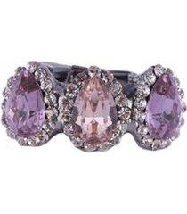anel armazem rr bijoux mini gotas lilaz feminino - feminino