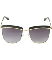 56mm aviator browline sunglasses