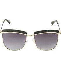 56mm aviator browline sunglasses