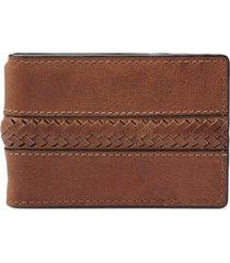fossil men's francis money clip leather wallet