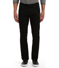 mavi jeans jake slim fit jeans, size 40 x 30 in double black supermove at nordstrom
