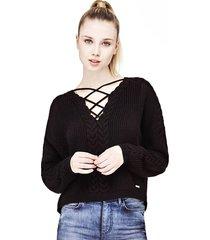 sweter ze sznurkami z przodu