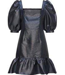 faye dress kort klänning blå by malina