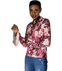 camisa floral com lenço alphorria a. cult