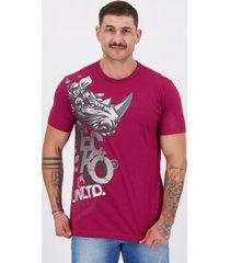 camiseta ecko rhino star estampada vinho