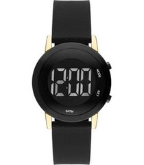 relógio touch unissex trans bicolor twbjt016ab/4p twbjt016ab/4p