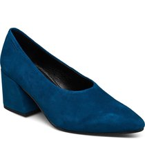 olivia shoes heels pumps classic blå vagabond