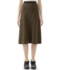 women's gucci gg rhombus jacquard wool blend sweater skirt