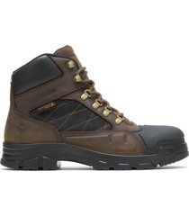 "wolverine men's chainhand defender steel-toe 6"" boot brown, size 13 medium width"