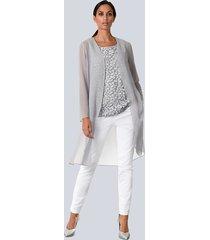 blouse alba moda grijs