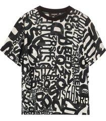 dsquared2 printed viscose t-shirt