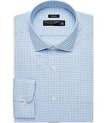 pronto uomo french blue check dress shirt