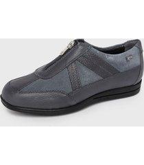 zapato cuero azul 16hrs