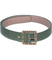 cinturon hebilla cadena verde mailea