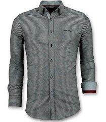 overhemd lange mouw tony backer business streepjes blouse