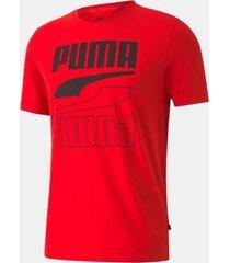 camiseta puma rebel tee vermelha masculina