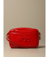 n° 21 crossbody bags n ° 21 shoulder bag in shiny patent leather with logo