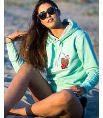 bluza miętowa aloha hawaii