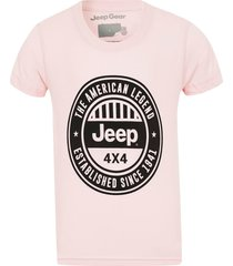 camiseta inf. jeep american legend 4x4 - rosa - kanui