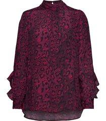 alberto blouse lange mouwen rood ravn