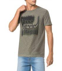 camiseta masculina free style masters oliva calvin klein jeans - pp