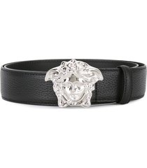 versace palazzo medusa buckle belt - black