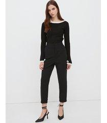 motivi maglia bicolor donna nero