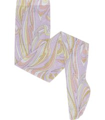 emilio pucci stretch nylon mesh tights